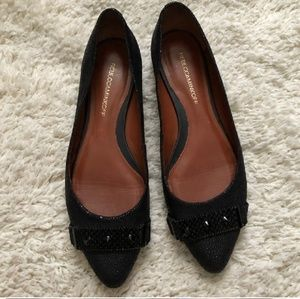 REBECCA MINKOFF Pebbled Leather Flats Size 9  EUC!